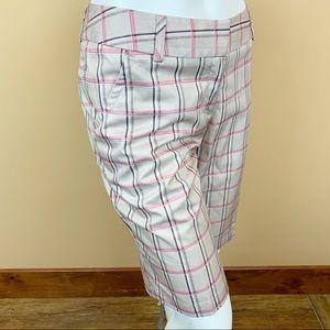 Adidas Golf climalite plaid tartan bermuda shorts
